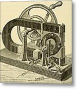 A Hand Cranked Device Onsisting Metal Print