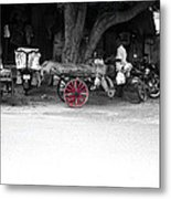 A Hawker On The Street Metal Print