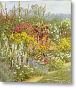 A Herbaceous Border Metal Print
