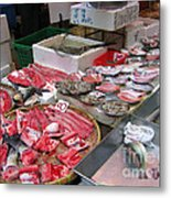 A Hong Kong Fishmonger Shop Metal Print