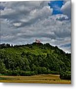A House On A Hill Metal Print