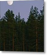 A Huge Moon, With Features Clearly Metal Print