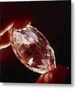 A Huge Nine-carat Diamond Glistens Metal Print