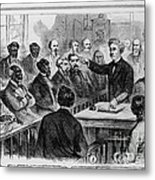 A Jury Of Whites And Blacks Metal Print