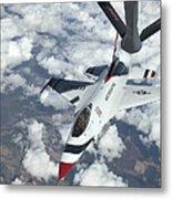 A Kc-135 Stratotanker Refuels An Air Metal Print