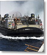 A Landing Craft Air Cushion Transits Metal Print