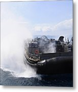 A Landing Craft Air Cushion Travels Metal Print