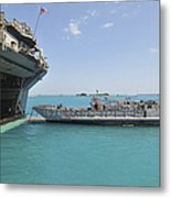 A Landing Craft Utility Approaches Metal Print