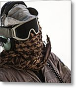 A Loadmaster Protects His Head Metal Print