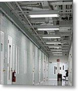 A Long Corridor In A Residential Unit Metal Print