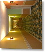A Long Hallway Flipped Sideways Metal Print
