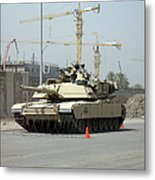 A M1 Abram Sits Out Front Of The New Metal Print