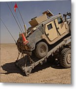 A M1114 Armored Vehicle Is Unloaded Metal Print