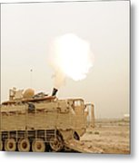 A M120 Mortar System Is Fired Metal Print