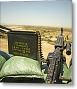 A M240b Medium Machine Gun Metal Print