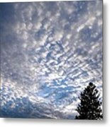 A Mackerel Sky Metal Print