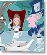 'a Mad Tea Party' Metal Print by Bryan  Rhoads