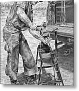A Man And His Trade - Farrier Art Print Metal Print