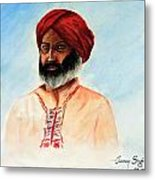A Man From Rajsthan Metal Print by Tanmay Singh