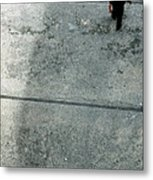 A Man Walked Visible From Above Metal Print