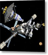A Manned Mars Landerreturn Vehicle Metal Print