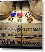 A Memorial Dedicated To An Airman Who Metal Print by Stocktrek Images