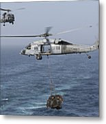 A Mh-60s Knighthawk Transfers Cargo Metal Print by Gert Kromhout