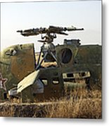 A Mi-35 Attack Helicopter At Kunduz Air Metal Print