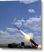 A Mim-104 Patriot Anti-aircraft Missile Metal Print
