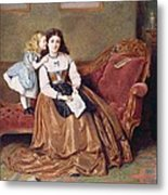 A Mother's Darling Metal Print by George Goodwin Kilburne