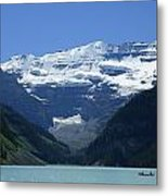 A Mountain Range With A Lake In The Metal Print