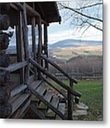 A Mountain View Metal Print