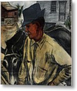 A Mule And A Plow. Resettlement Metal Print