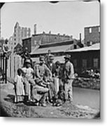 A Newly Freed African American Group Metal Print by Everett
