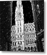A Night On The Grand Place Metal Print