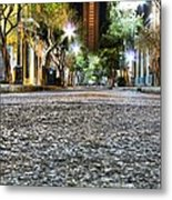 A Night On The Street Metal Print