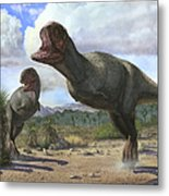 A Pair Of Pycnonemosaurus Nevesi Metal Print