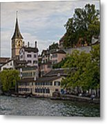 A Panorama View Of Zurich Metal Print