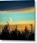A Peek At The Moon Metal Print