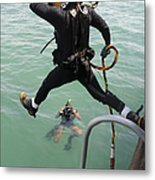 A Photographer Documents A Navy Diver Metal Print