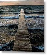 A Pier In The Water Metal Print