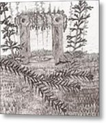A Place For The Old Gods... - Sketch Metal Print by Robert Meszaros