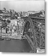 A Portion Of Porto And Its Large Metal Print