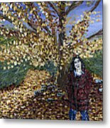 A Portrait Of The Artist's Mother In Autumn Metal Print