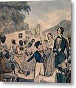 A Pro-slavery Portrayal Metal Print by Everett