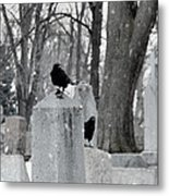 A Quiet Winter Day At The Graveyard Metal Print