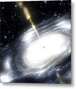 A Rare Galaxy That Is Extremely Dusty Metal Print by Stocktrek Images