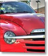 A Red Chevy Metal Print