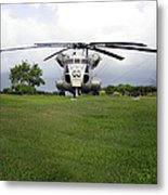 A Rh-53d Sea Stallion Helicopter Metal Print