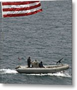 A Rigid Hull Inflatable Boat Metal Print